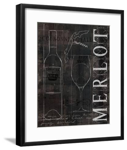 Wine Blueprint II v2 Charcoal Distressed-Marco Fabiano-Framed Art Print