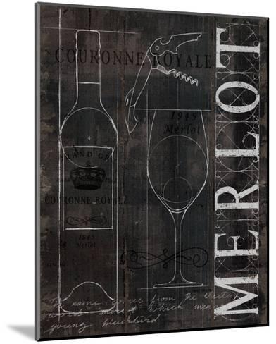 Wine Blueprint II v2 Charcoal Distressed-Marco Fabiano-Mounted Art Print