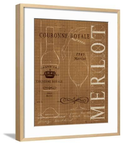 Wine Blueprint II Sepia-Marco Fabiano-Framed Art Print