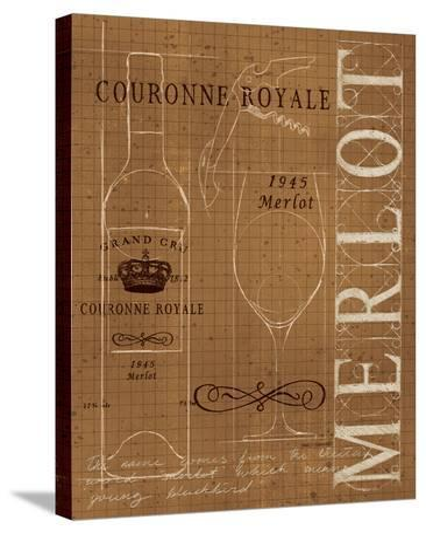 Wine Blueprint II Sepia-Marco Fabiano-Stretched Canvas Print