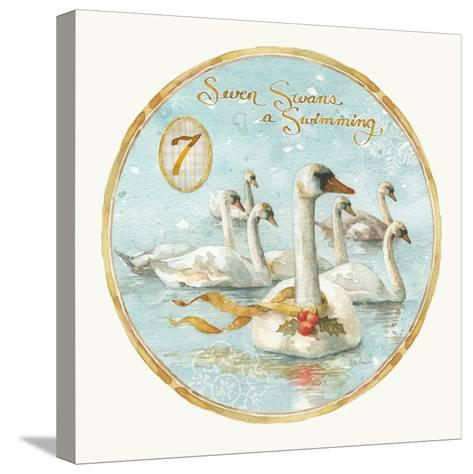 12 Days of Christmas VII Round-Lisa Audit-Stretched Canvas Print