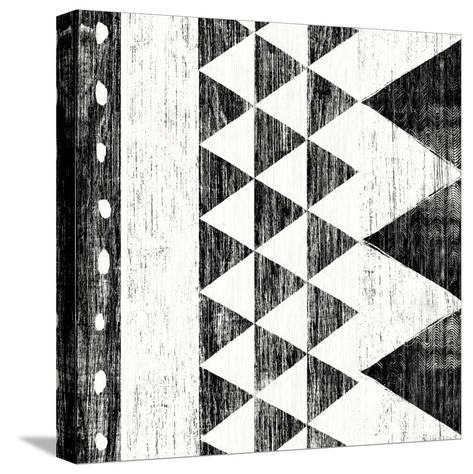 Patterns of the Savanna I No Gray BW-Moira Hershey-Stretched Canvas Print