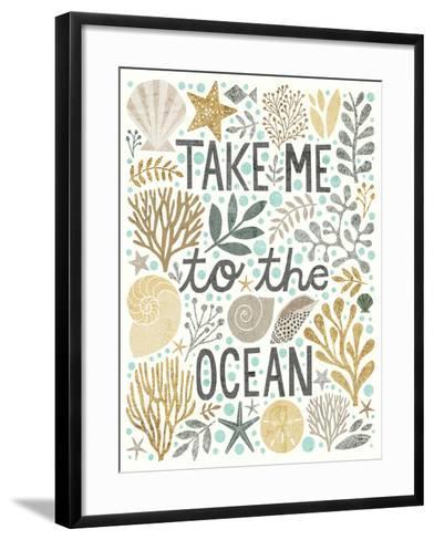Under Sea Treasures IV Gold Neutral-Michael Mullan-Framed Art Print
