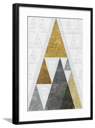 Mod Triangles III Gold-Michael Mullan-Framed Art Print