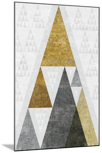 Mod Triangles III Gold-Michael Mullan-Mounted Art Print