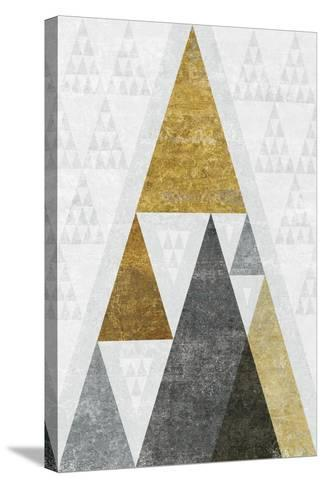 Mod Triangles III Gold-Michael Mullan-Stretched Canvas Print