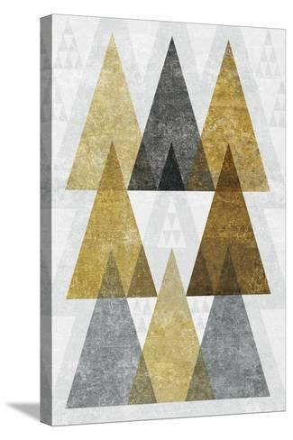 Mod Triangles IV Gold-Michael Mullan-Stretched Canvas Print