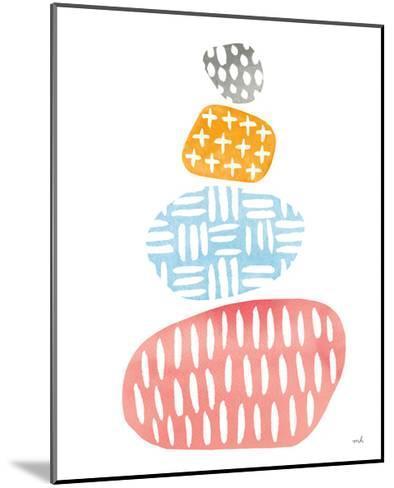 River Stones I Bright-Moira Hershey-Mounted Art Print