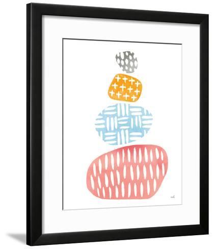 River Stones I Bright-Moira Hershey-Framed Art Print