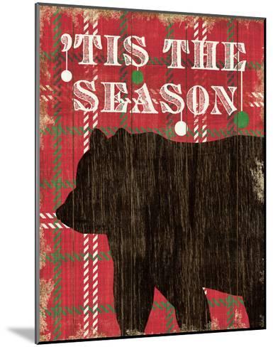 Simple Living Holiday Bear-Michael Mullan-Mounted Art Print