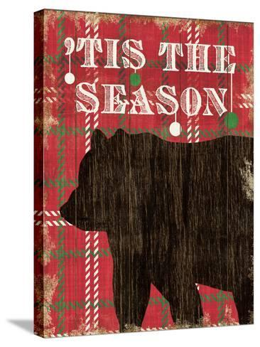 Simple Living Holiday Bear-Michael Mullan-Stretched Canvas Print