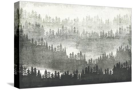 Mountainscape Silver-Michael Mullan-Stretched Canvas Print