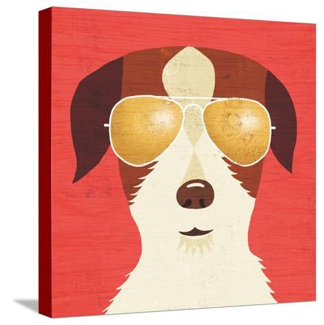Beach Bums Terrier I-Michael Mullan-Stretched Canvas Print