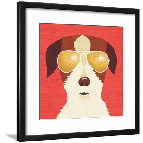 Beach Bums Terrier I-Michael Mullan-Framed Art Print