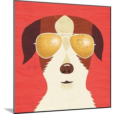 Beach Bums Terrier I-Michael Mullan-Mounted Art Print