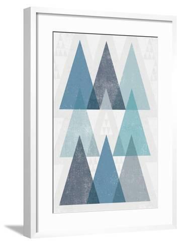 Mod Triangles IV Blue-Michael Mullan-Framed Art Print