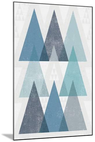 Mod Triangles IV Blue-Michael Mullan-Mounted Art Print
