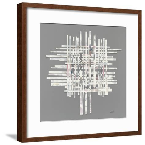 The Color of Moonlight on Gray-Mike Schick-Framed Art Print