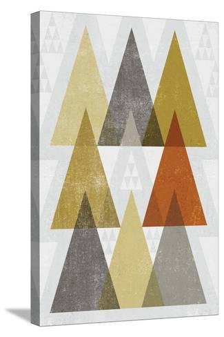 Mod Triangles IV Retro-Michael Mullan-Stretched Canvas Print
