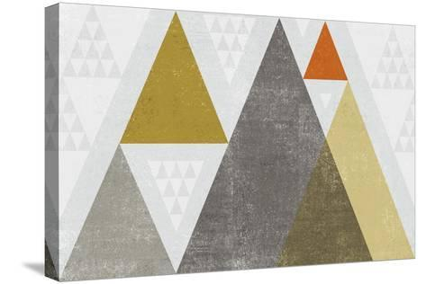 Mod Triangles I Retro-Michael Mullan-Stretched Canvas Print