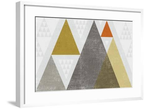 Mod Triangles I Retro-Michael Mullan-Framed Art Print