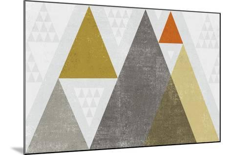 Mod Triangles I Retro-Michael Mullan-Mounted Art Print