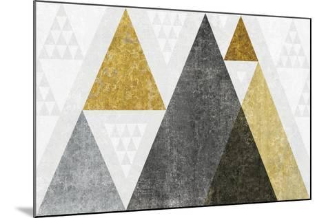 Mod Triangles I Gold-Michael Mullan-Mounted Art Print