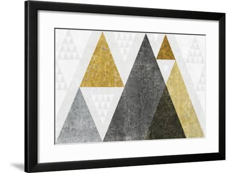 Mod Triangles I Gold-Michael Mullan-Framed Art Print