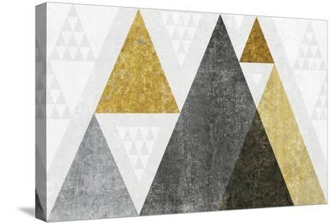 Mod Triangles I Gold-Michael Mullan-Stretched Canvas Print