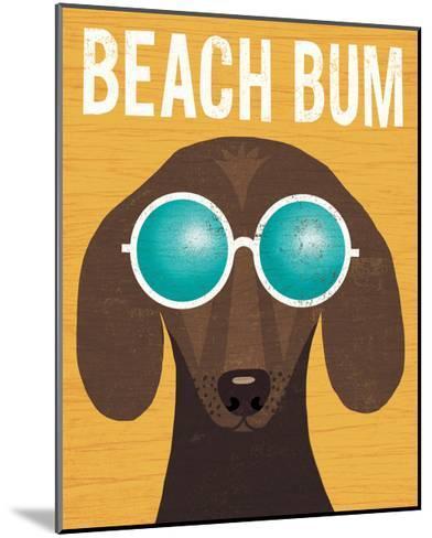 Beach Bums Dachshund I Bum-Michael Mullan-Mounted Art Print