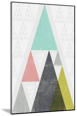 Mod Triangles III-Michael Mullan-Mounted Art Print