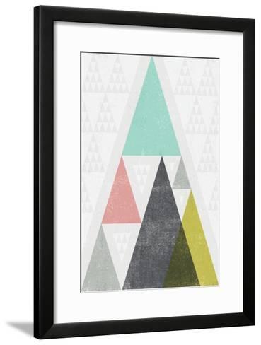 Mod Triangles III-Michael Mullan-Framed Art Print