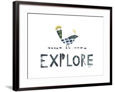 Bird Words II-Melissa Averinos-Framed Art Print