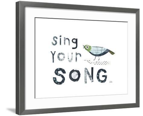 Bird Words III-Melissa Averinos-Framed Art Print