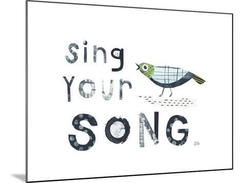 Bird Words III-Melissa Averinos-Mounted Art Print