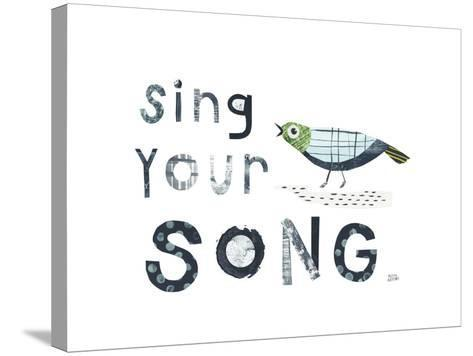 Bird Words III-Melissa Averinos-Stretched Canvas Print