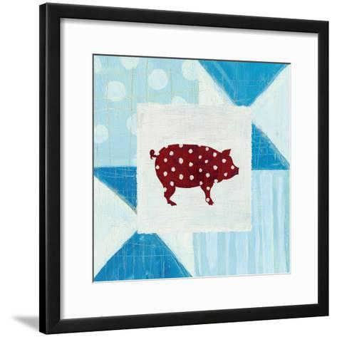 Modern Americana Farm Quilt I-Melissa Averinos-Framed Art Print