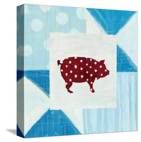 Modern Americana Farm Quilt I-Melissa Averinos-Stretched Canvas Print