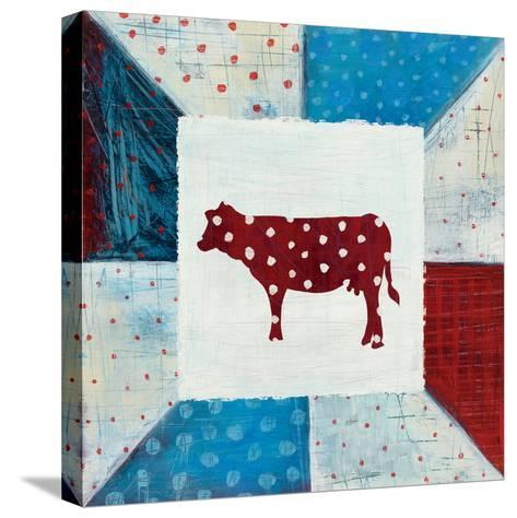 Modern Americana Farm Quilt IV-Melissa Averinos-Stretched Canvas Print