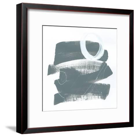 Gray and White IX-Mike Schick-Framed Art Print