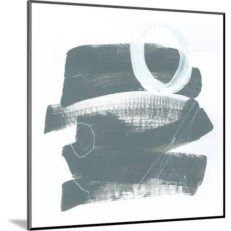 Gray and White IX-Mike Schick-Mounted Art Print