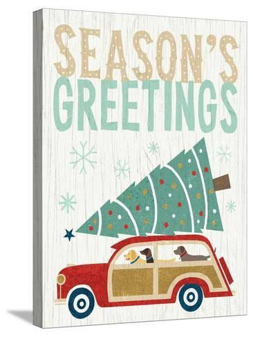 Holiday on Wheels II v2-Michael Mullan-Stretched Canvas Print