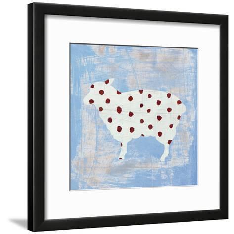 Modern Americana Farm II on Blue-Melissa Averinos-Framed Art Print