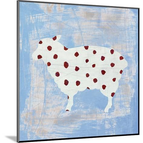 Modern Americana Farm II on Blue-Melissa Averinos-Mounted Art Print