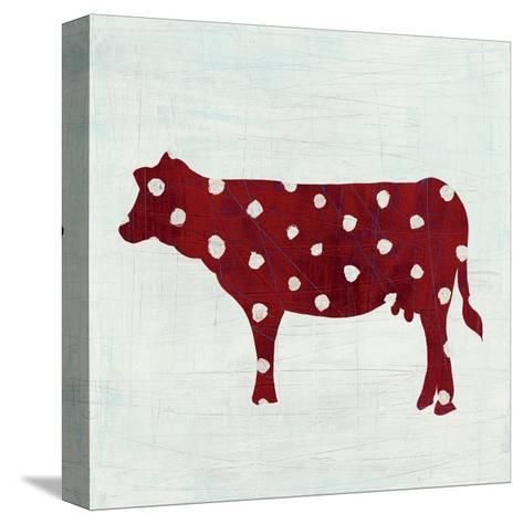 Modern Americana Farm IV on White-Melissa Averinos-Stretched Canvas Print
