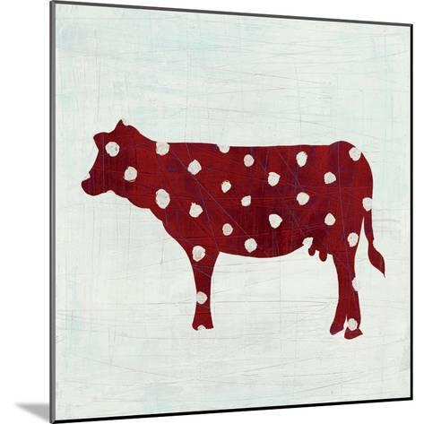 Modern Americana Farm IV on White-Melissa Averinos-Mounted Art Print