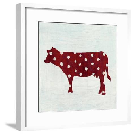 Modern Americana Farm IV on White-Melissa Averinos-Framed Art Print