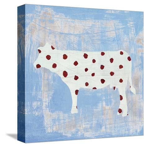 Modern Americana Farm IV on Blue-Melissa Averinos-Stretched Canvas Print