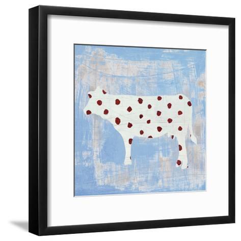Modern Americana Farm IV on Blue-Melissa Averinos-Framed Art Print