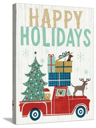 Holiday on Wheels III v2-Michael Mullan-Stretched Canvas Print